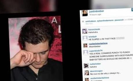 Justin Bieber Posts Orlando Bloom Crying Photo to Instagram!