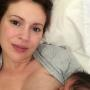 Alyssa Milano is Breastfeeding