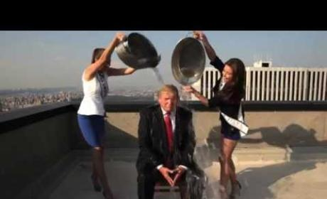Donald Trump Accepts Ice Bucket Challenge