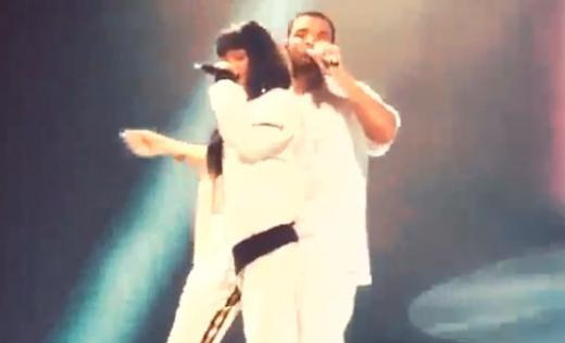 Rihanna and Drake on Stage