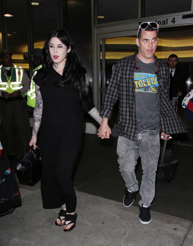 Steve o and kat von d land at lax
