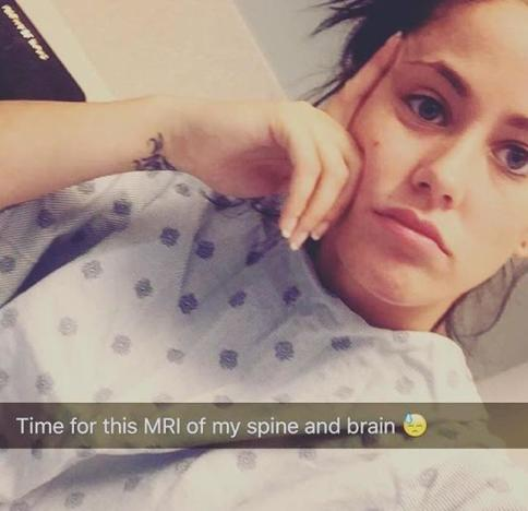 Jenelle Evans Hospital Selfie