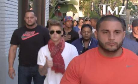 Justin Bieber to Camerman: Don't Talk!
