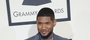 Usher at 2015 Grammys
