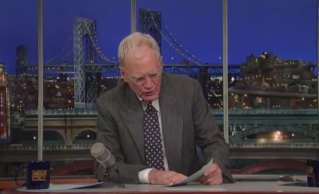 David Letterman Dedicates Top 10 List to Fired News Anchor