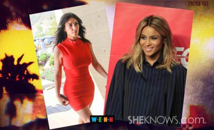 Kim Kardashian Celebrates Impending Ciara Baby, Poses with Pals