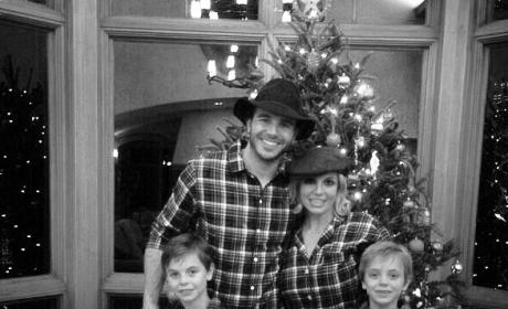 Britney Spears and Charlie Ebersol Rock Matching PJs, Post Christmas Family Photo to Instagram!