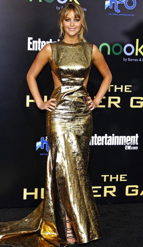Jennifer Lawrence in Gold