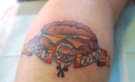 Some Guy Actually Gets KFC Double Down Tattoo: See the Photo!