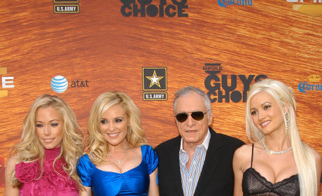 Hugh Hefner, Hotties Celebrate Birthday