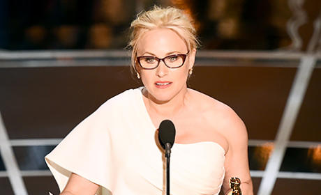 Patricia Arquette Wins Oscar, Pushes for Women's Right