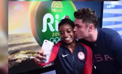 Simone Biles Meets Zac Efron! Gets a Kiss! Is Living the Dream!