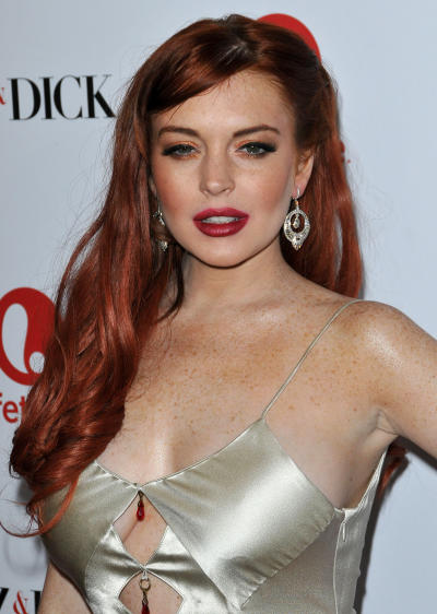Lindsay Lohan at Liz & Dick Movie Premiere