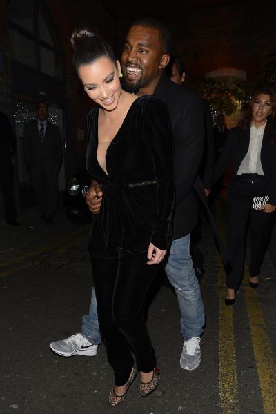 Kim Kardashian and Kanye K.