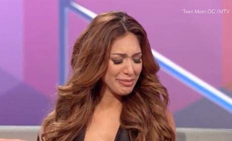 "Farrah Abraham Gets Emotional About Abusive Past: ""It's So Sad!"""