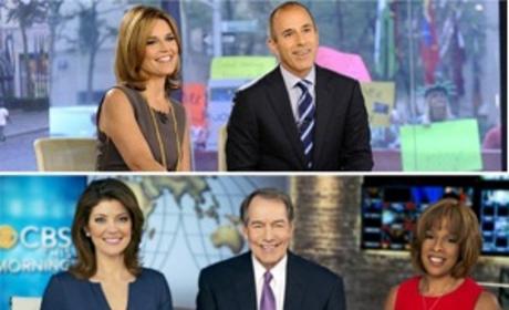 Morning Show-Down: Today vs. GMA vs. CBS!
