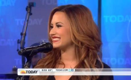 Demi Lovato Performs on The Today Show