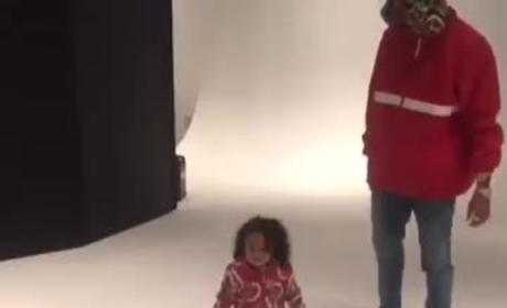 Chris Brown Dances with Daughter, Still Sucks