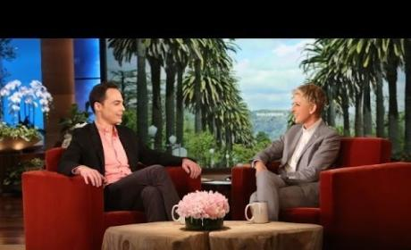 "Jim Parsons Awkwardly Appears on Ellen, Labels Himself ""Loser"" at Gay Marriage"