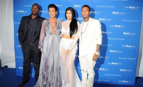 Kris Jenner, Corey Gamble, Kylie Jenner, Tyga