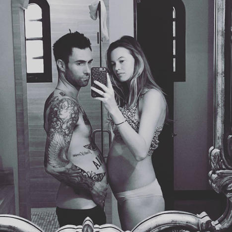 when did adam levine and behati meet