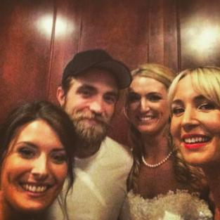 Robert Pattinson at a Wedding