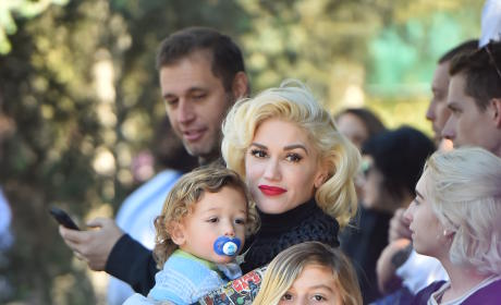 Gwen Stefani Takes Her Boys to Disneyland