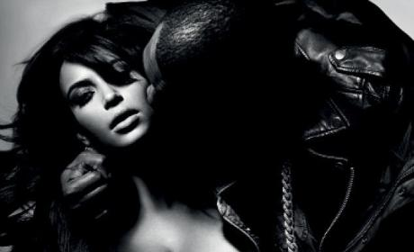 Kanye West Cups Kim Kardashian's Breast in New Magazine Pic