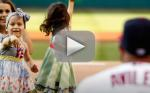 Baseball Player's Cancer-Stricken Daughter Throws Out First Pitch