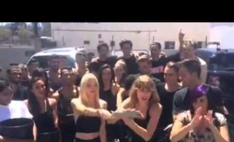 Taylor Swift Takes Ice Bucket Challenge