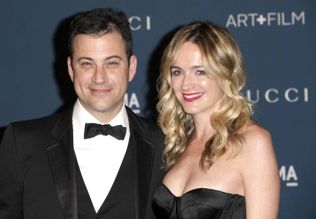 Molly McNearney with Jimmy Kimmel
