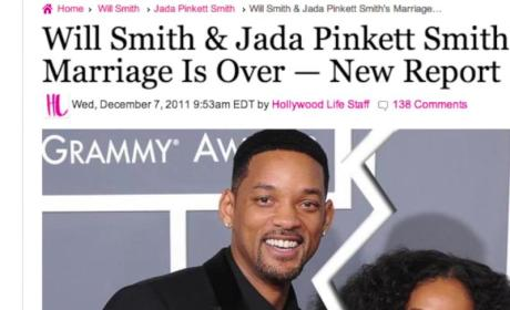 Will and Jada Pinkett Smith Heard About Their Divorce Via Google Alert in Bed