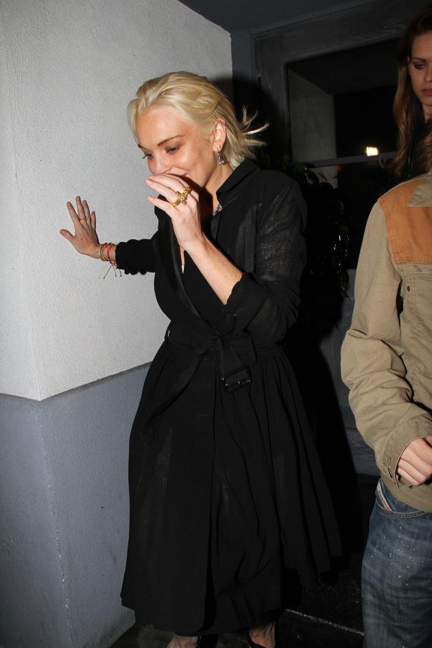 Lindsay at a Nightclub