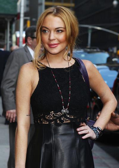 Lindsay Lohan at Late Show