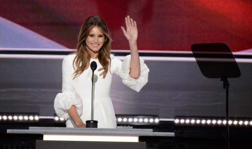 Melania Trump Waves