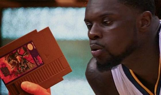 Lance Stephenson Blows on a Nintendo Cartridge