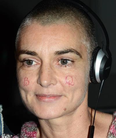 Sinead O'Connor Cheek Tattoos