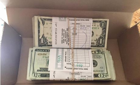 Customer Finds $1,300 in Domino's Take-Out Box