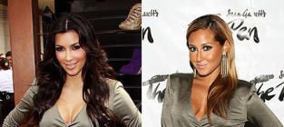 Fashion Face-Off: Kim Kardashian vs. Adrienne Bailon