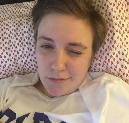 Lena Dunham Bed Selfie