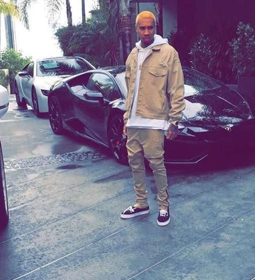 tyga on instagram the hollywood gossip