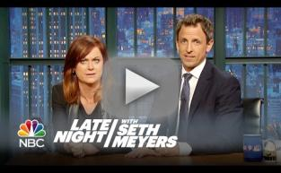 "Amy Poehler and Seth Meyers Reunite for ""REALLY?!?"" on Late Night"