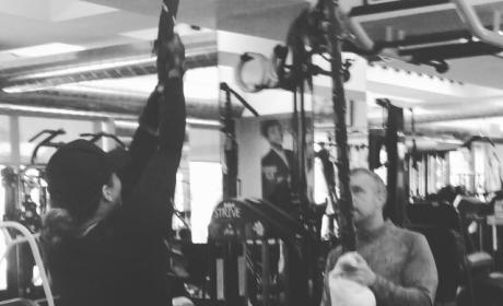 "Khloe Kardashian Enters ""Beast Mode,"" Posts Workout Video"