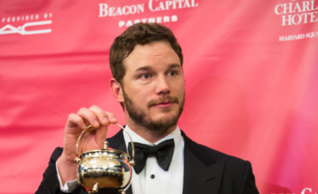 Chris Pratt Poses At Hasty Pudding Awards