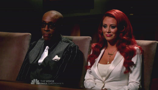 Arsenio Hall and Aubrey O'Day