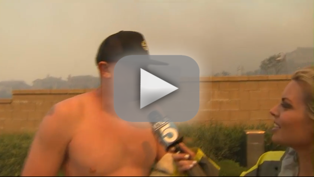 Shirtless Man Asks Out Reporter