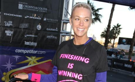 Kate Gosselin Runs Marathon, Mouth