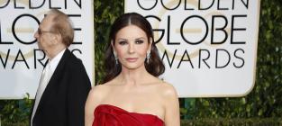 Catherine Zeta Jones at the Golden Globes