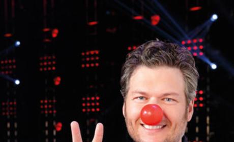 Blake Shelton Red Nose Photo