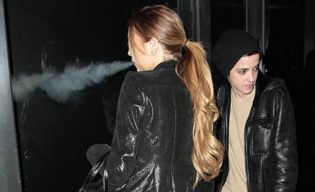 Lindsay Lohan Blows Hard